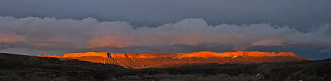 Sunset on North Caineville Mesa from Highway 24
